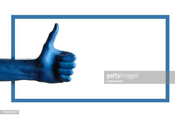 Blaue Daumen hoch