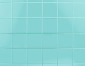 Blue tile background 3d render