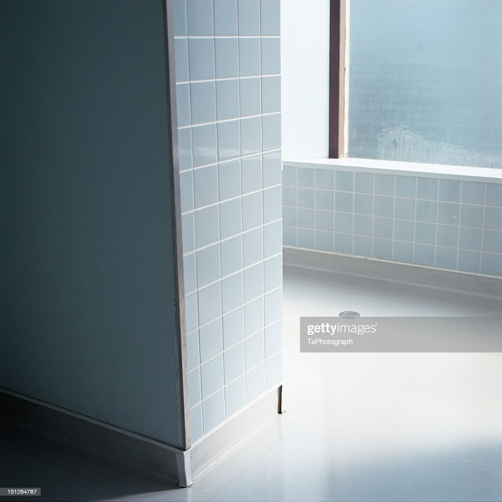 Blue Tiled Room Stock Photo | Getty Images
