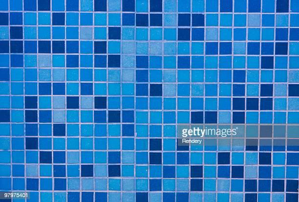 Des carreaux de mosaïque bleu