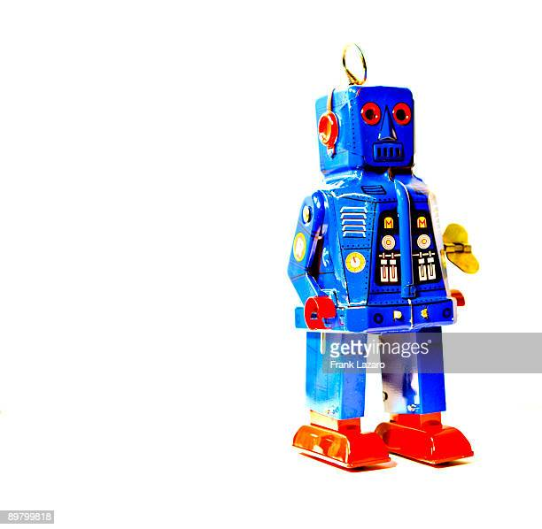 blue tin robot