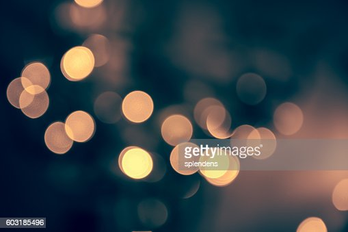 Blue toned blurred chrismas  background  with street lights : Stock Photo