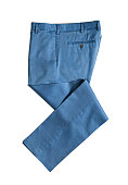 Blue trousers isolated on white background ( with clipping path)