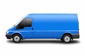 Blue Van Isolated On White