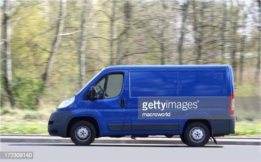 Blue Van Speeding