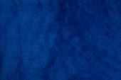 Blue velvet fabric background texture close up.