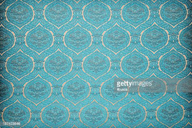 Blue vintage wallpaper background texture