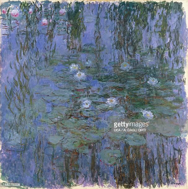 Blue Water Lilies 19161919 by Claude Monet oil on canvas 200x200 cm Paris Musée D'Orsay