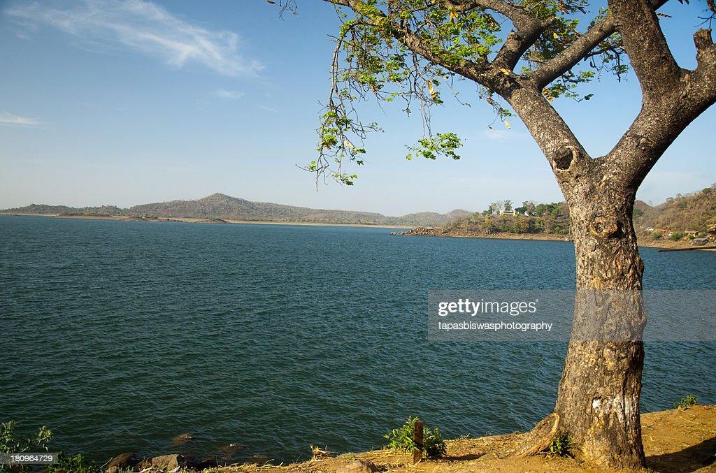 Blue water of Massanjore dam
