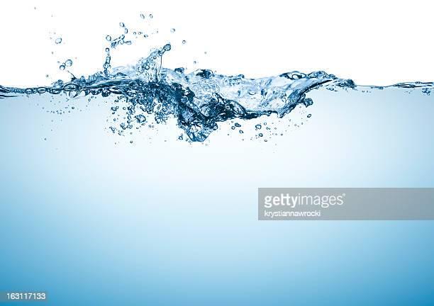 Blaue Wasser Oberfläche