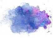blue watercolor blob