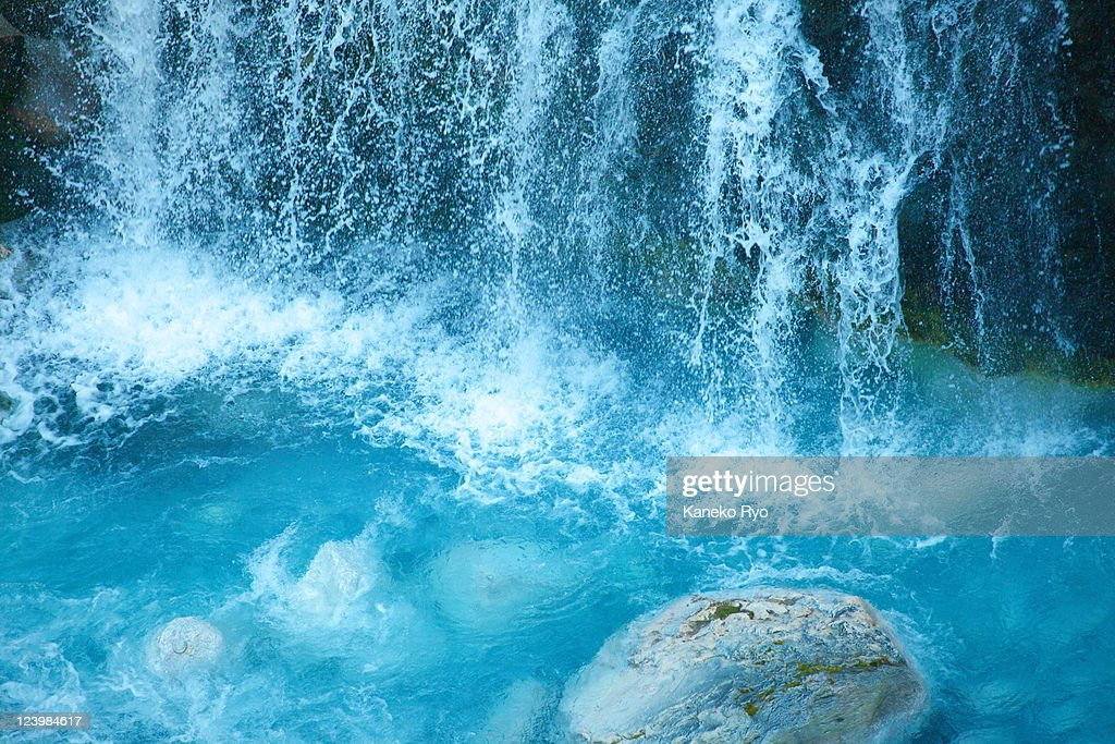 Blue waterfall : Stock Photo