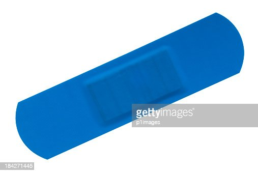 Blue waterproof bandage with clipping path