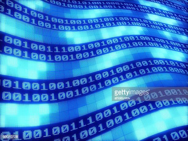 Blue wave number digital background