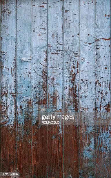 ブルードアの質感の風化した木材、イタリア