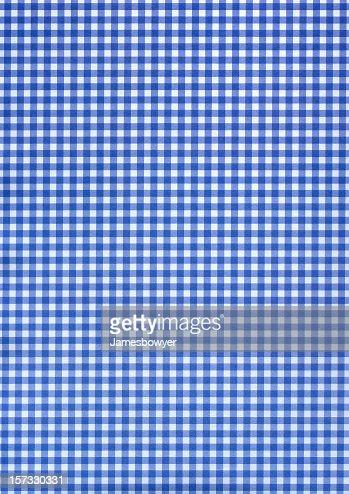 Blue & white checkered pattern