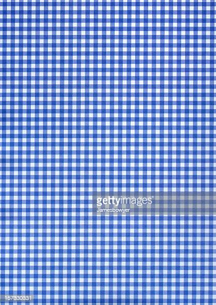 Blue & white checkered pattern