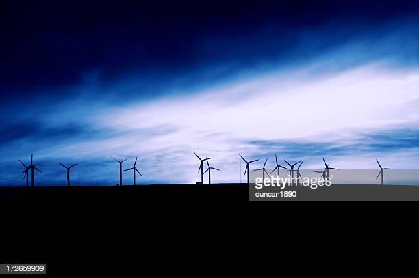 Blue Windmühlen