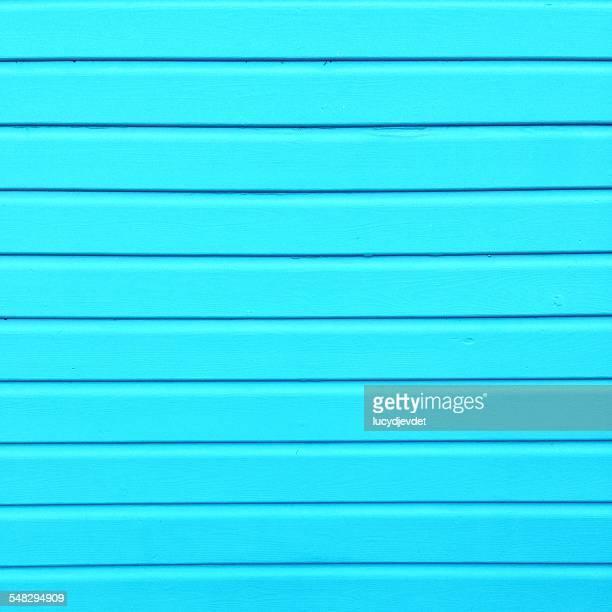 Blue wooden wall of a beach hut