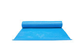 blue yoga mats,isolated on white background with clipping path.