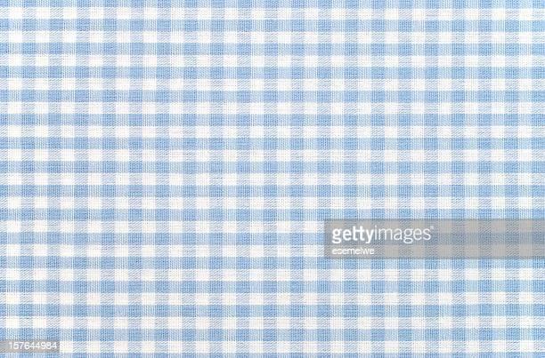 Blu e bianco tessuto vichy a scacchi