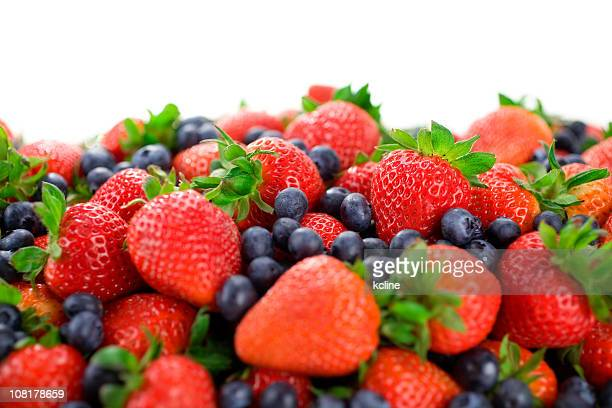 Blueberries and Strawberries