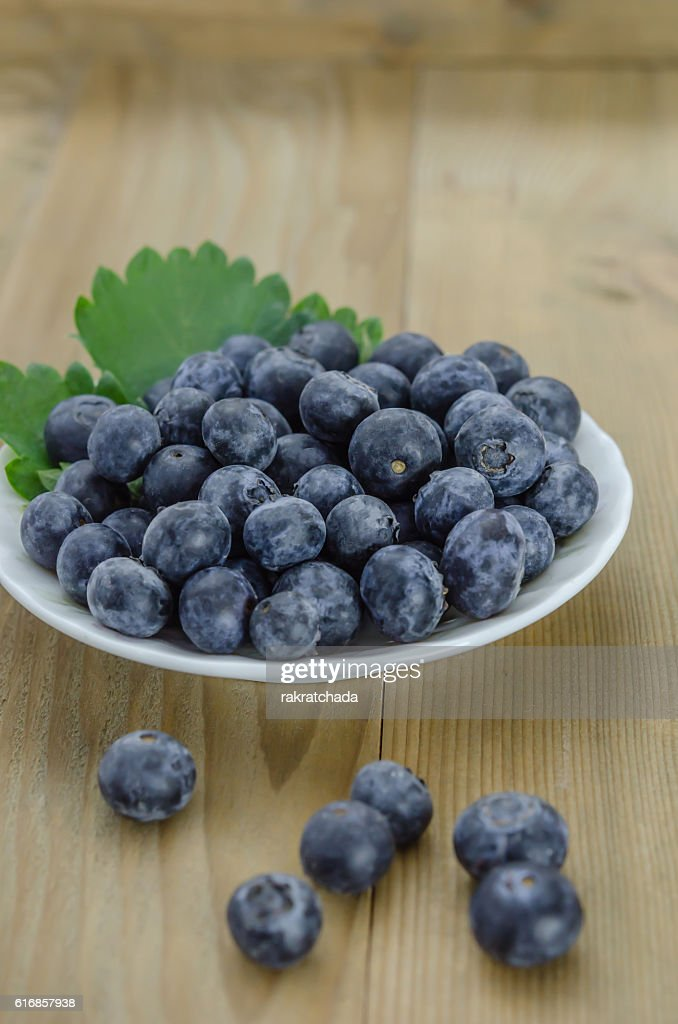 Blueberries in a bowl : Stock Photo