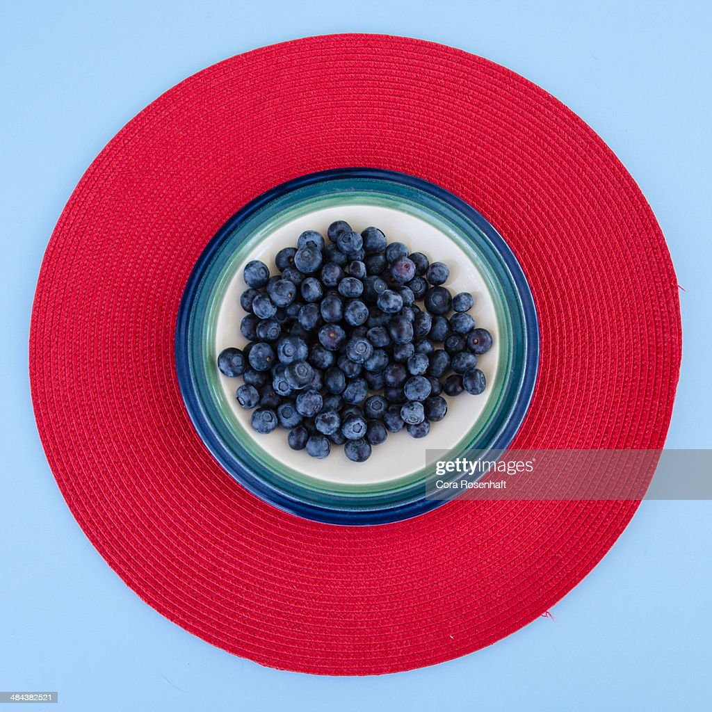 Blueberries on circles