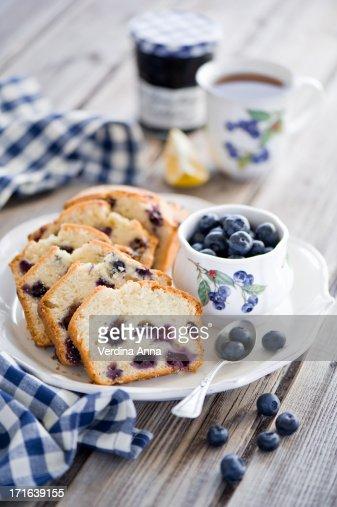 Blueberry cake : Stock Photo