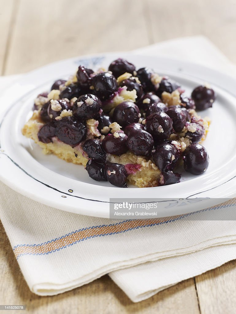 BlueBerry Cake Square : Stock Photo