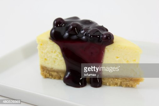 Blueberry cheesecake : Bildbanksbilder