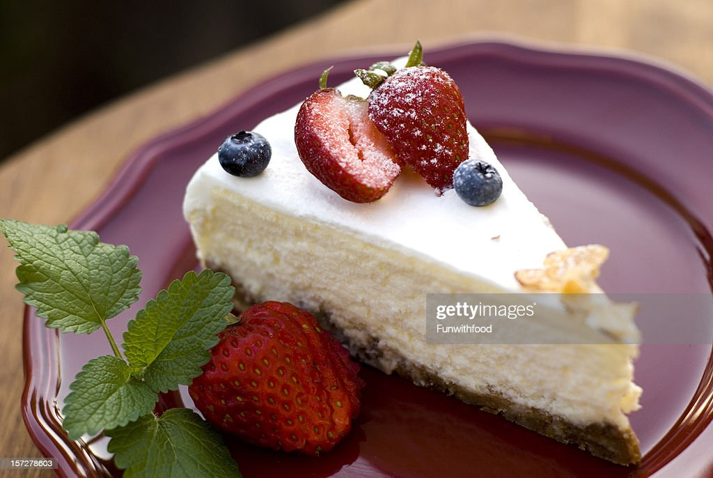 Blueberry & Cheesecake, Strawberry Fruit Cake Dessert, Gourmet Food : Stock Photo