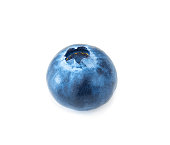 Blueberry isolated on white background, macro studio shit'n