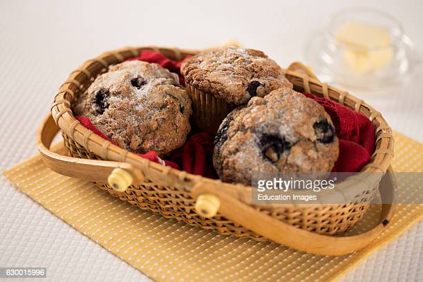 Blueberry muffins in a basket Chatham Gables Inn Chatham MA