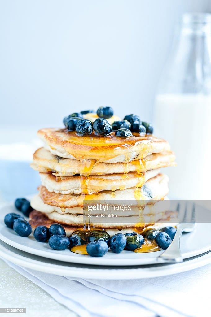 Blueberry Pancakes : Stock Photo