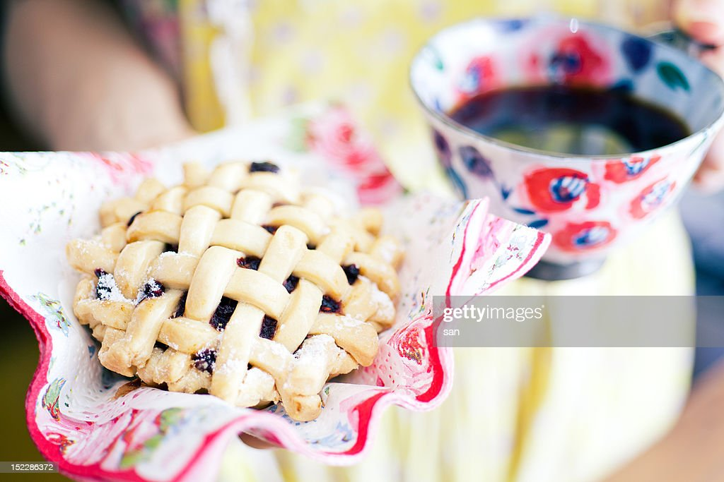 Blueberry pie : Stock Photo
