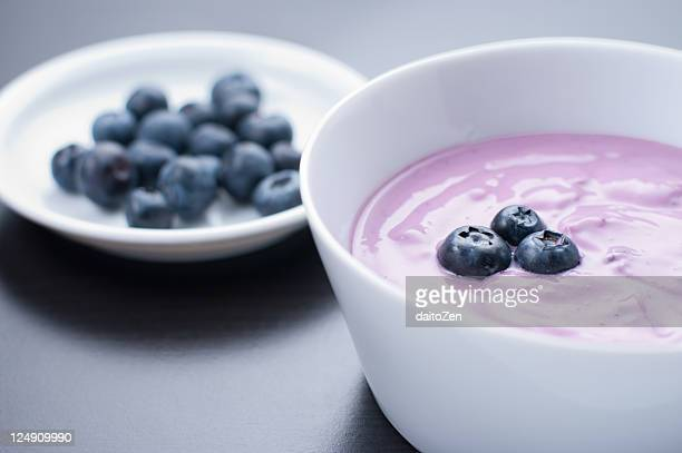Blueberry yoghurt dessert