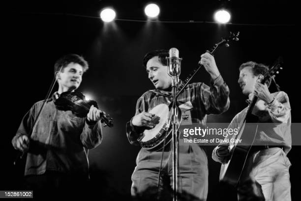 Bluegrass and oldtime music group the New Lost City Ramblers perform in July 1959 at the Newport Folk Festival in Newport Rhode Island
