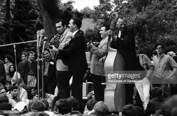 Bluegrass group The Osborne Brothers perform at the Newport Folk Festival in July 1964 in Newport Rhode Island