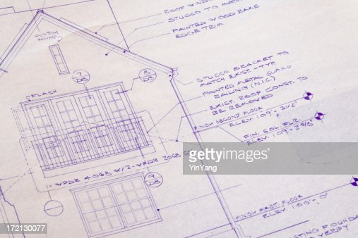 Blueprint for Home Addition  Remodeling Improvement of Residential House    Stock Photo. Blueprint For Home Addition Remodeling Improvement Of Residential