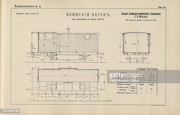 Blueprint car stock photos and pictures getty images blueprint of a military rail car from the vladikavkaz railway book entitled rolling stock malvernweather Images