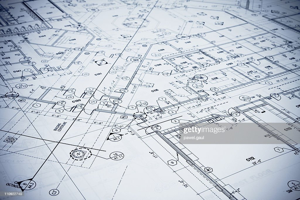 Blueprint - Toned Image. : Stock Photo