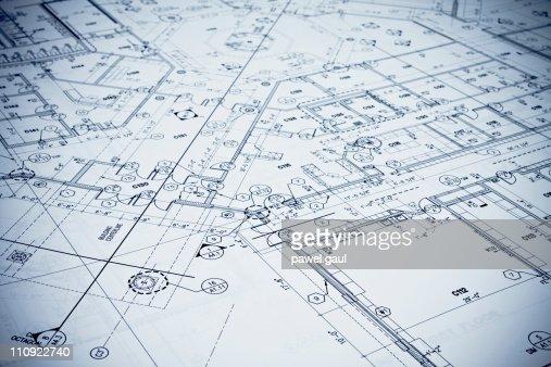 Blueprint - Toned Image. : Stock Photo