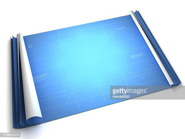 Blueprint with room for your product (Clipping path included)