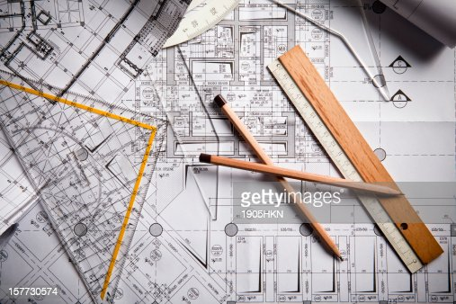 Mechanical Engineering Tools : Blueprints and tools for mechanical engineering stock