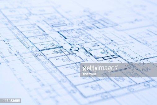 Blueprints : Stock Photo