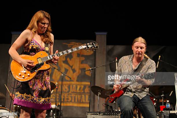 Blues and soul singer and guitarist Susan Tedeschi and songwriter and guitarist Derek Trucks perform during day 5 of the 41st Annual New Orleans Jazz...
