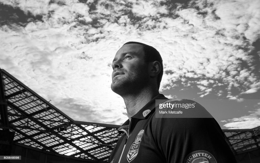 Blues captain Boyd Cordner poses during the New South Wales Blues Team Announcement at ANZ Stadium on July 3, 2017 in Sydney, Australia.