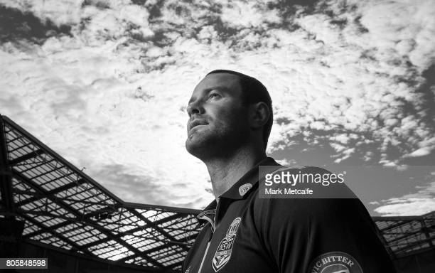 Blues captain Boyd Cordner poses during the New South Wales Blues Team Announcement at ANZ Stadium on July 3 2017 in Sydney Australia