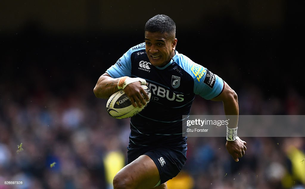 Blues centre <a gi-track='captionPersonalityLinkClicked' href=/galleries/search?phrase=Rey+Lee-Lo&family=editorial&specificpeople=7158634 ng-click='$event.stopPropagation()'>Rey Lee-Lo</a> breaks the Ospreys defence during the Guinness Pro 12 match between Cardiff Blues and Ospreys at Principality Stadium on April 30, 2016 in Cardiff, United Kingdom.